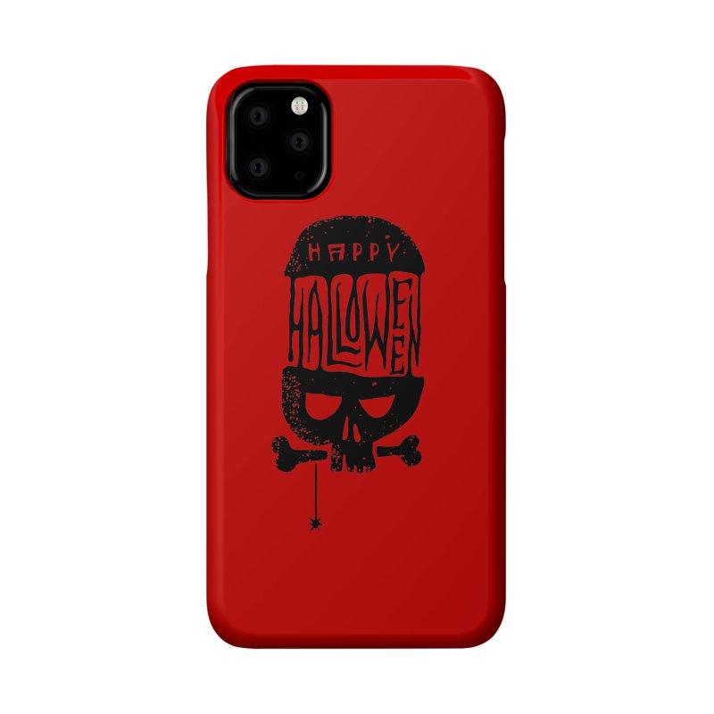 Black skull  Accessories Phone Case by artfanat.shop