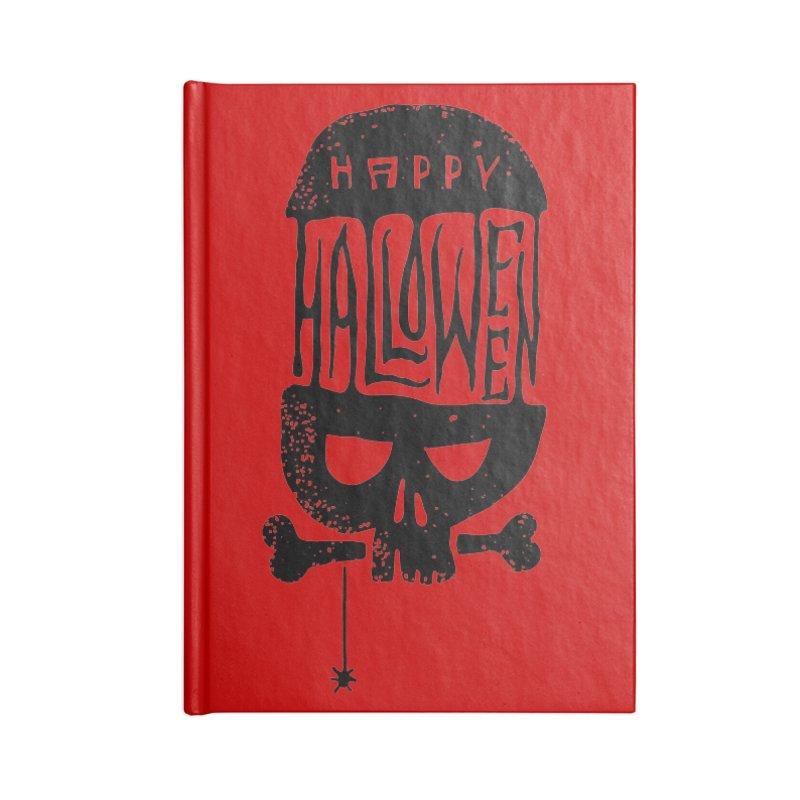 Black skull  Accessories Notebook by artfanat.shop