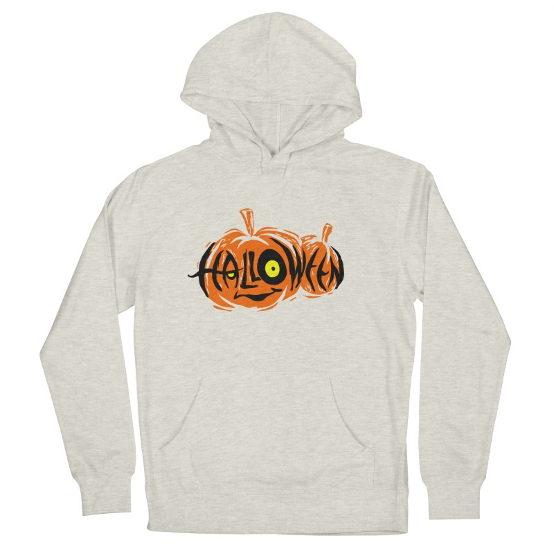 Pumpkin Women's French Terry Pullover Hoody by artfanat.shop
