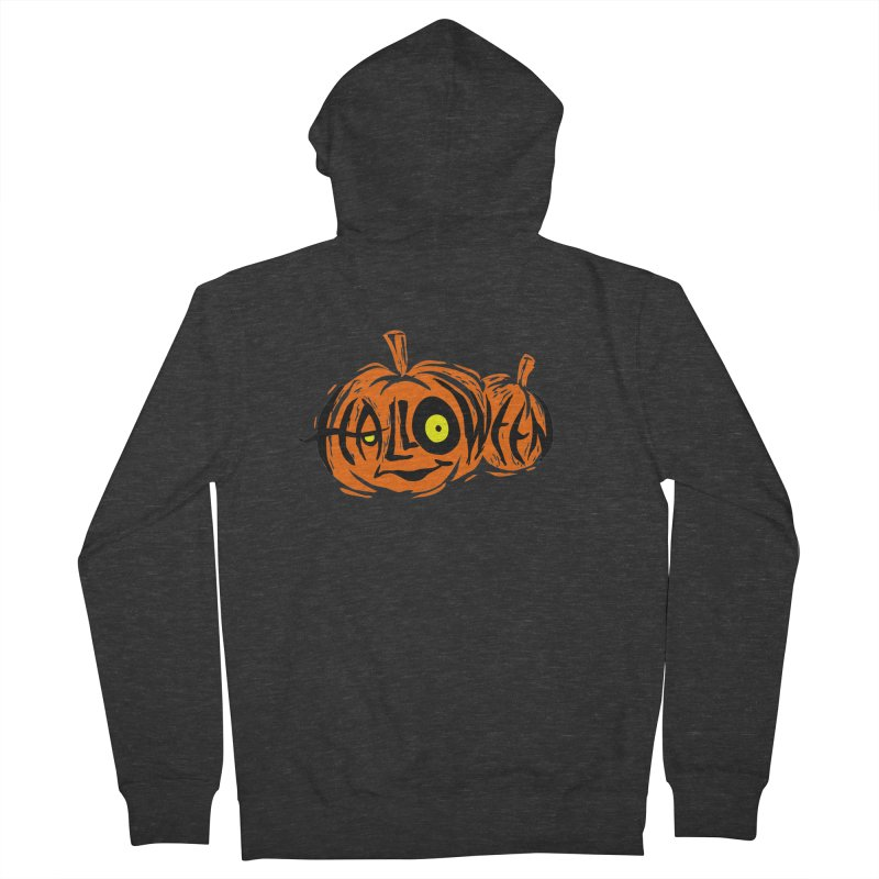 Pumpkin Men's French Terry Zip-Up Hoody by artfanat.shop