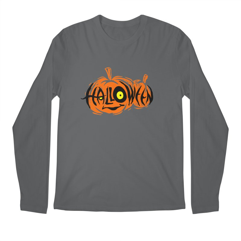 Pumpkin Men's Regular Longsleeve T-Shirt by artfanat.shop