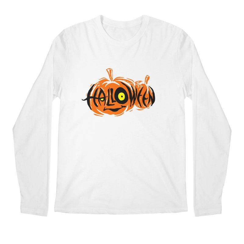 Pumpkin Men's Regular Longsleeve T-Shirt by artfanat.shop