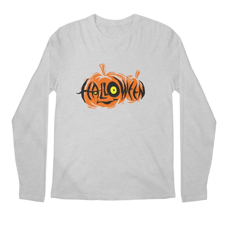 Pumpkin Men's Longsleeve T-Shirt by artfanat.shop