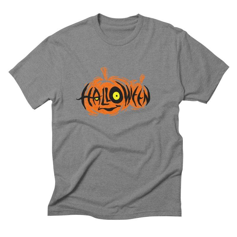 Pumpkin Men's Triblend T-Shirt by artfanat.shop