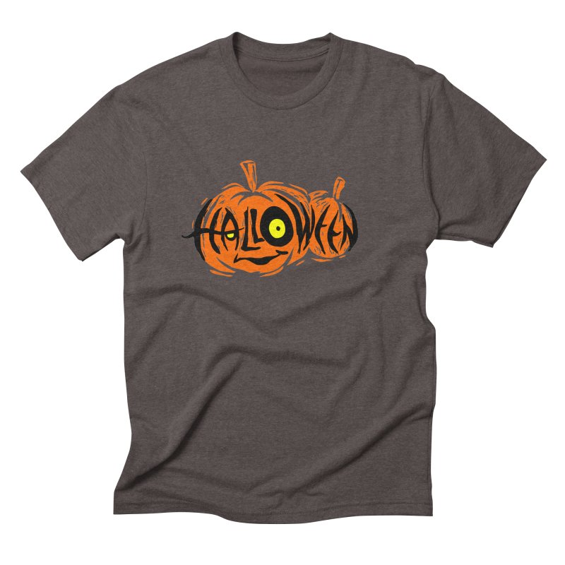 Pumpkin Men's Triblend T-Shirt by artfanat.shop