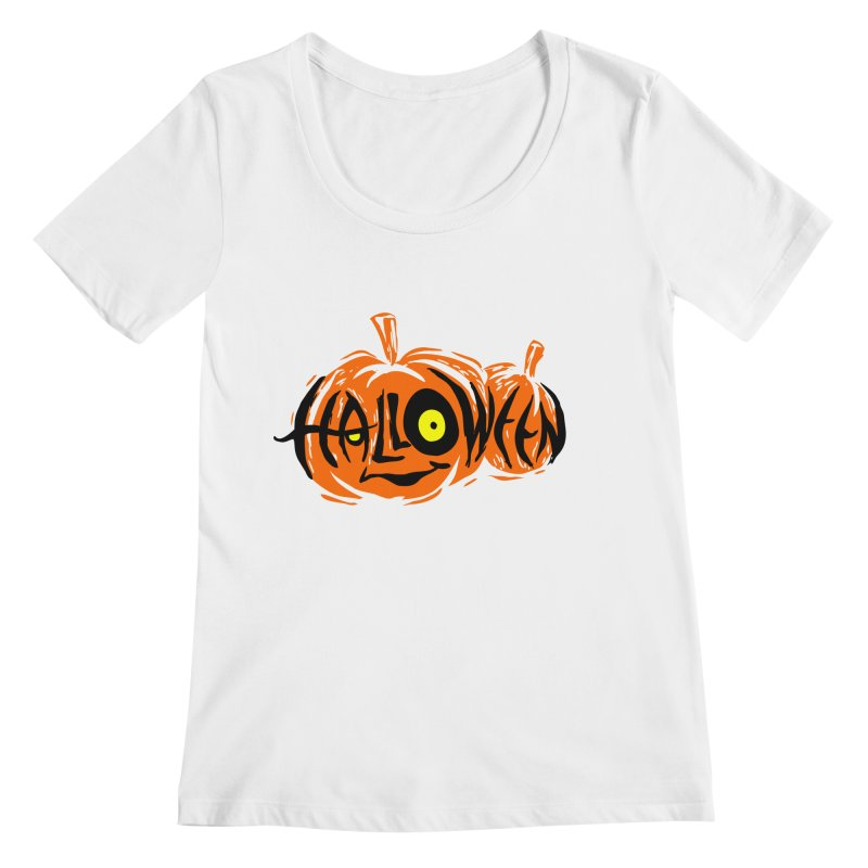 Pumpkin Women's Regular Scoop Neck by artfanat.shop