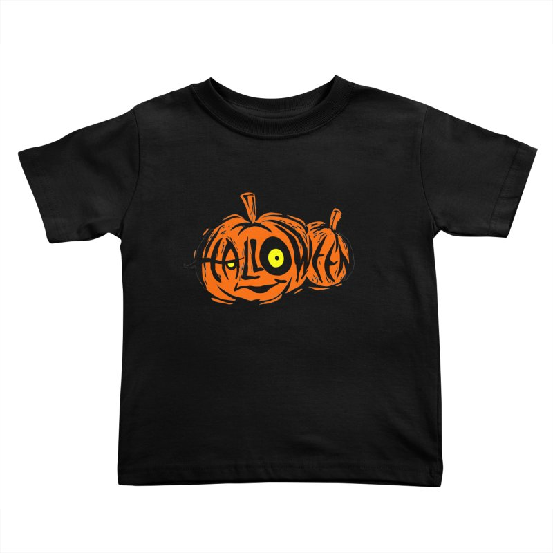 Pumpkin Kids Toddler T-Shirt by artfanat.shop