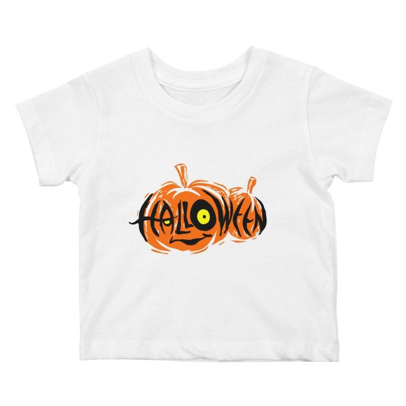 Pumpkin Kids Baby T-Shirt by artfanat.shop