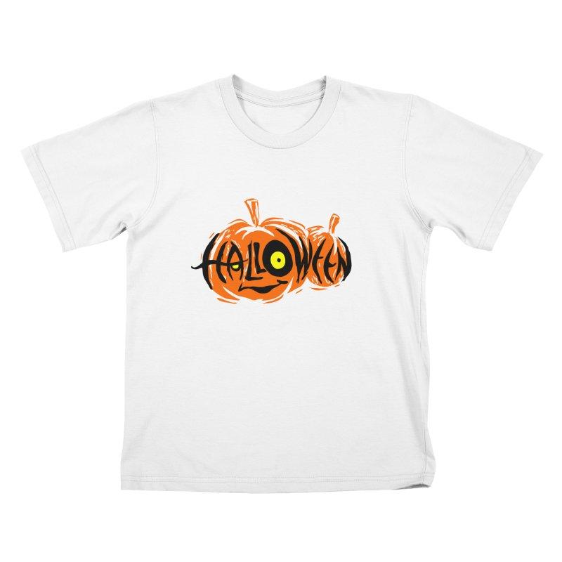 Pumpkin Kids T-Shirt by artfanat.shop