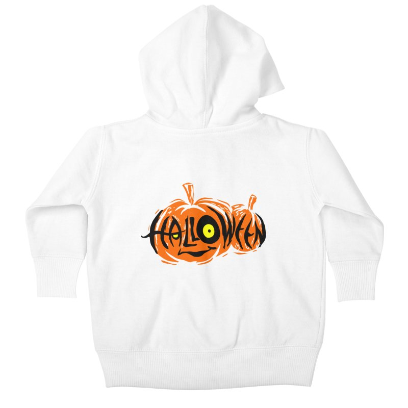 Pumpkin Kids Baby Zip-Up Hoody by artfanat.shop