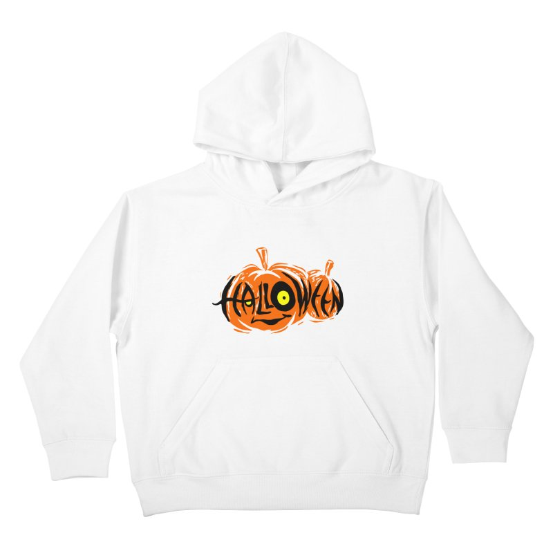 Pumpkin Kids Pullover Hoody by artfanat.shop