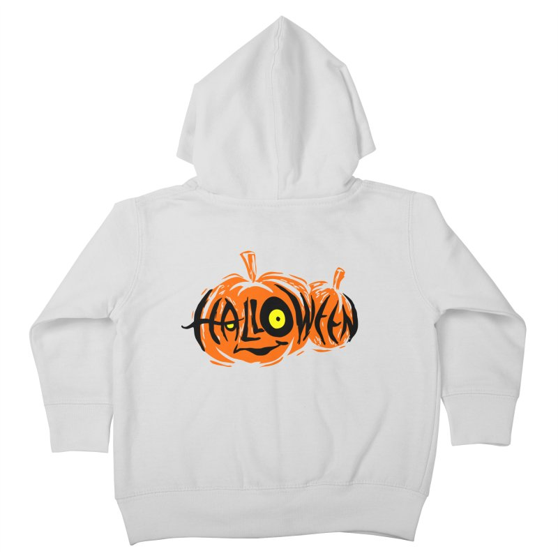 Pumpkin Kids Toddler Zip-Up Hoody by artfanat.shop