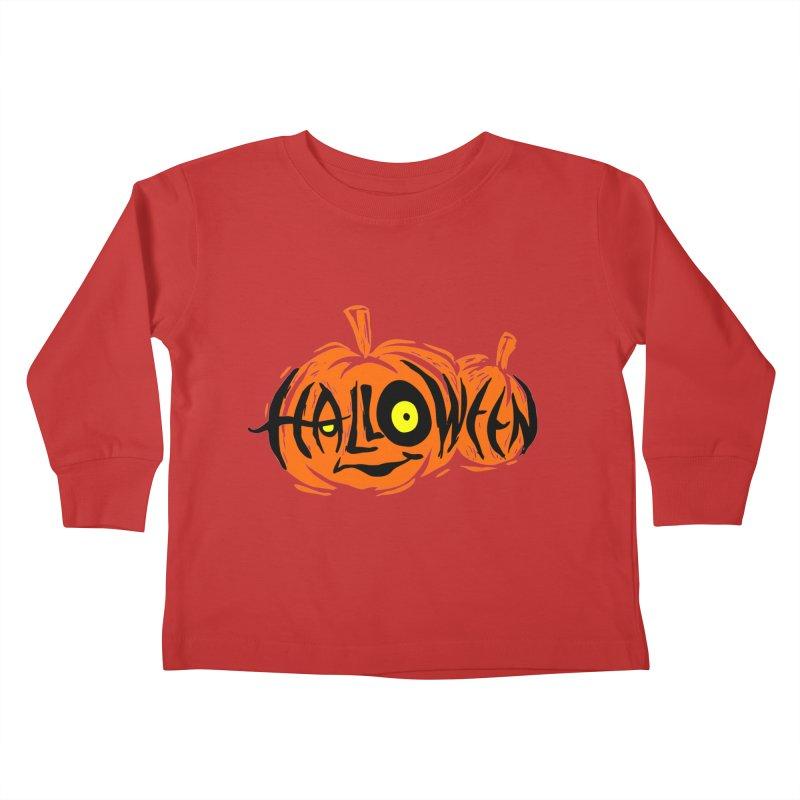 Pumpkin Kids Toddler Longsleeve T-Shirt by artfanat.shop