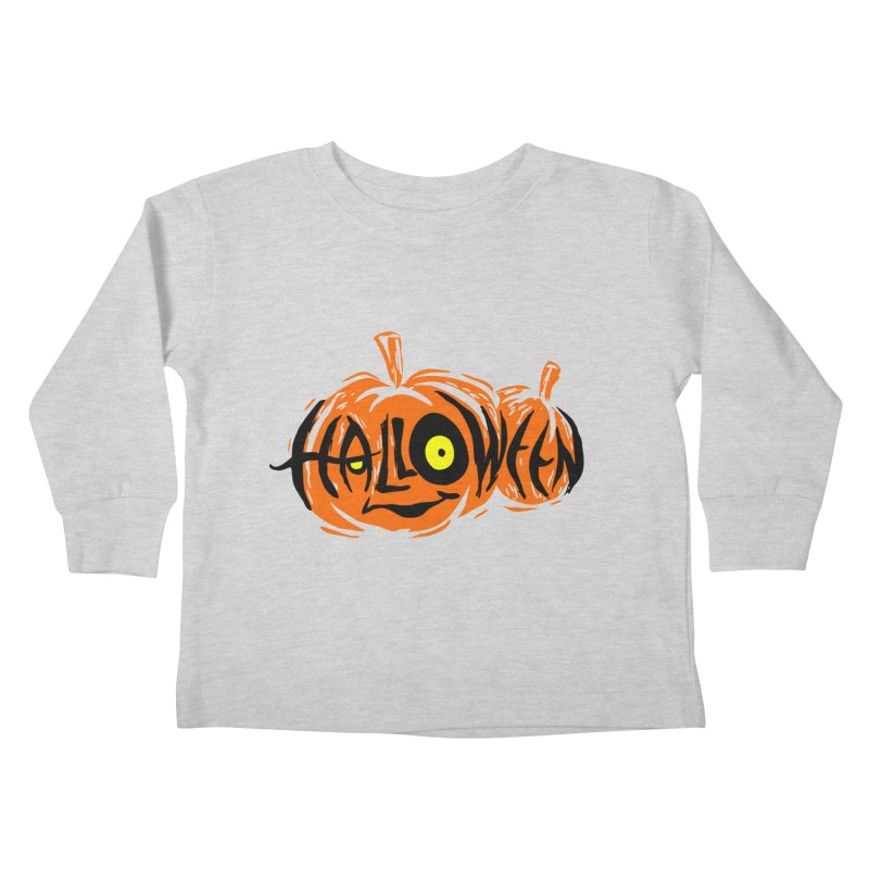Pumpkin Kids Toddler Longsleeve T-Shirt by artfanat.shop