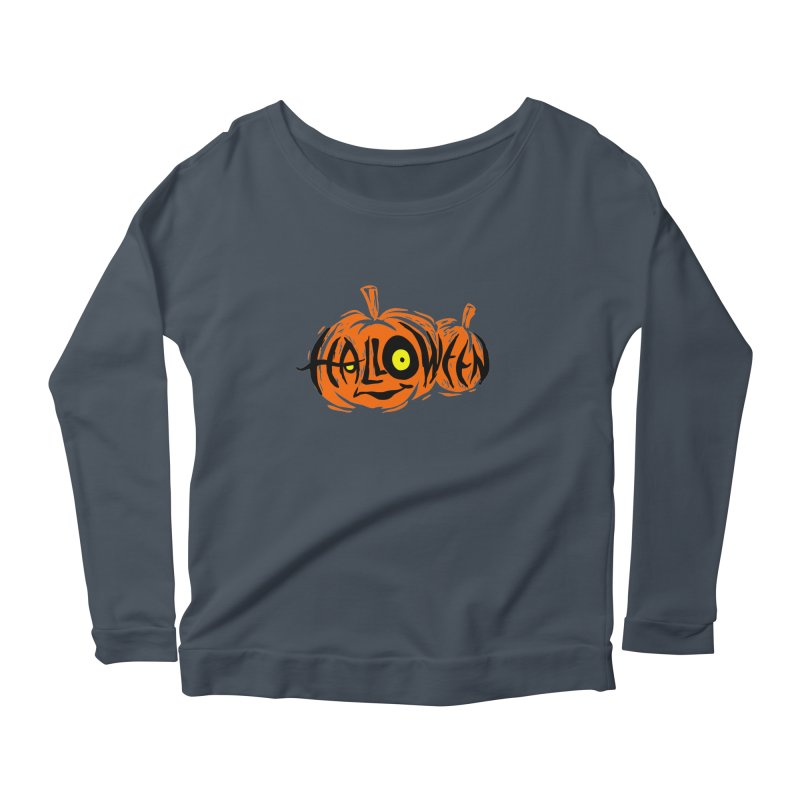 Pumpkin Women's Scoop Neck Longsleeve T-Shirt by artfanat.shop