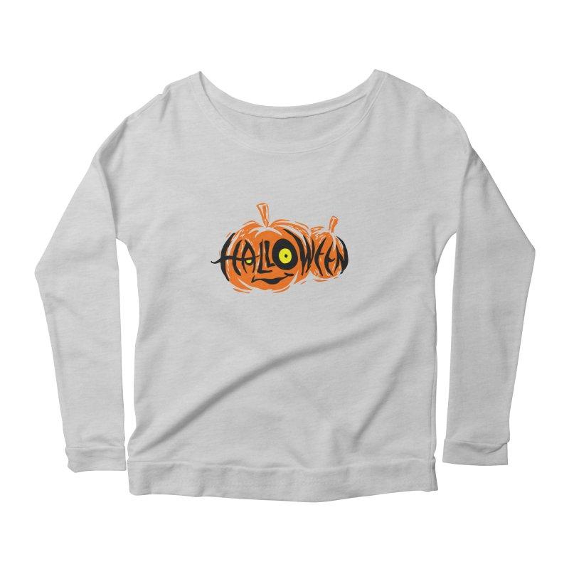 Pumpkin Women's Scoop Neck Longsleeve T-Shirt by artfanat.shop