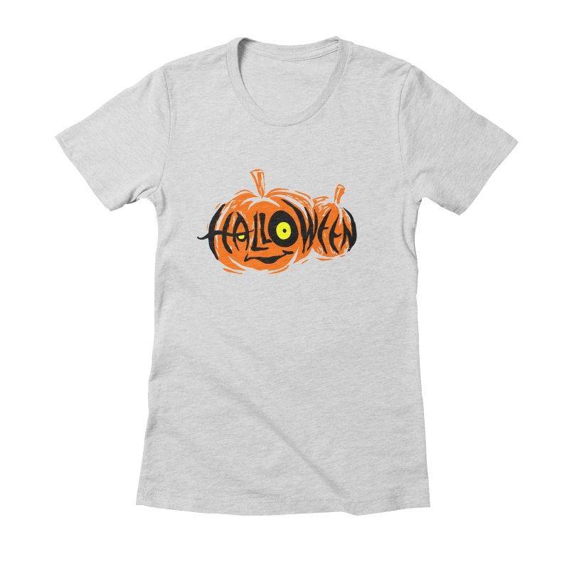 Pumpkin Women's Fitted T-Shirt by artfanat.shop