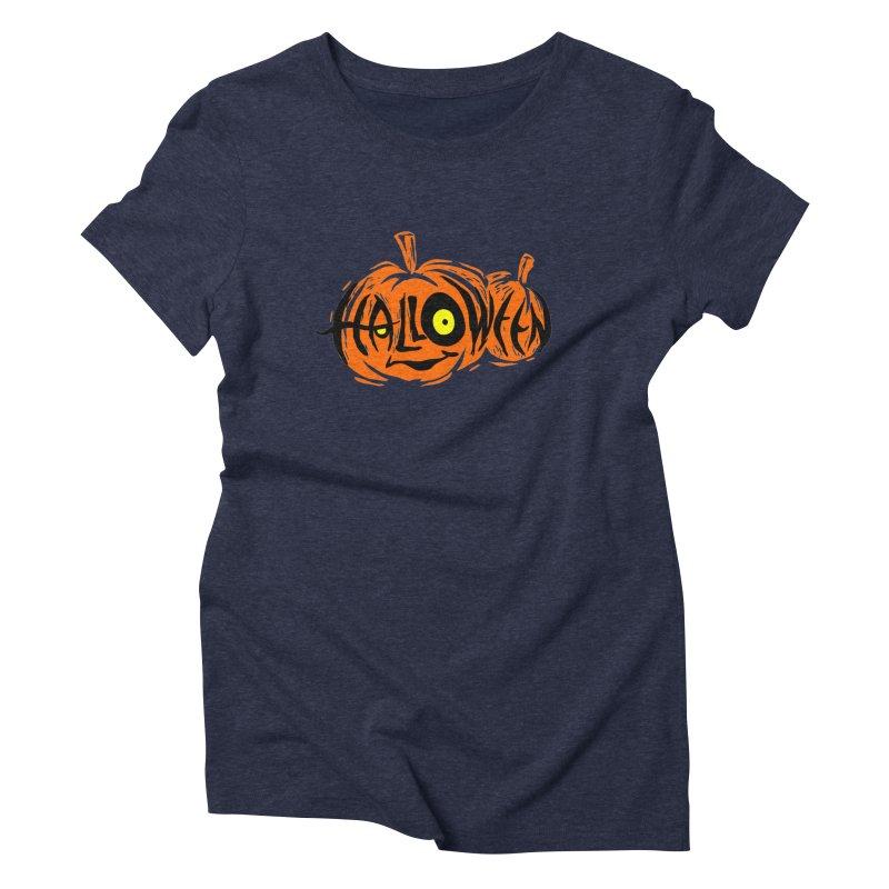Pumpkin Women's Triblend T-Shirt by artfanat.shop