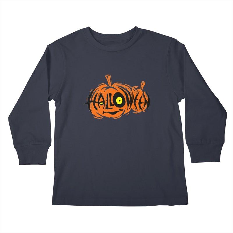 Pumpkin Kids Longsleeve T-Shirt by artfanat.shop