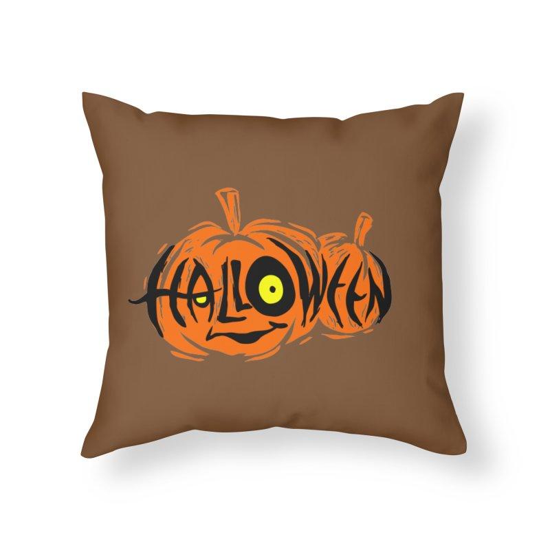 Pumpkin Home Throw Pillow by artfanat.shop