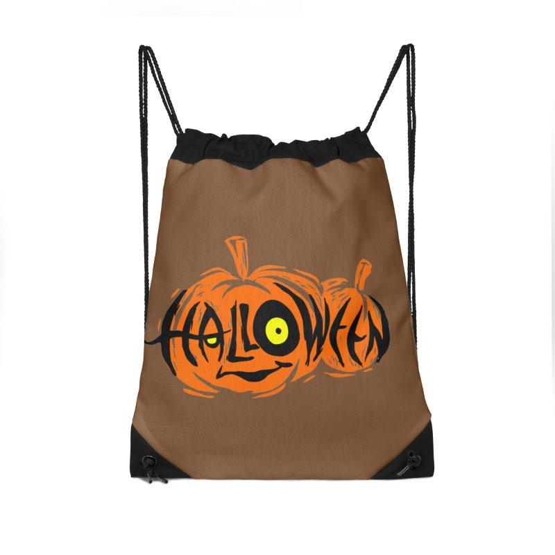 Pumpkin Accessories Drawstring Bag Bag by artfanat.shop