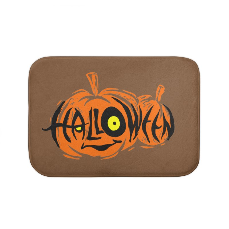 Pumpkin Home Bath Mat by artfanat.shop