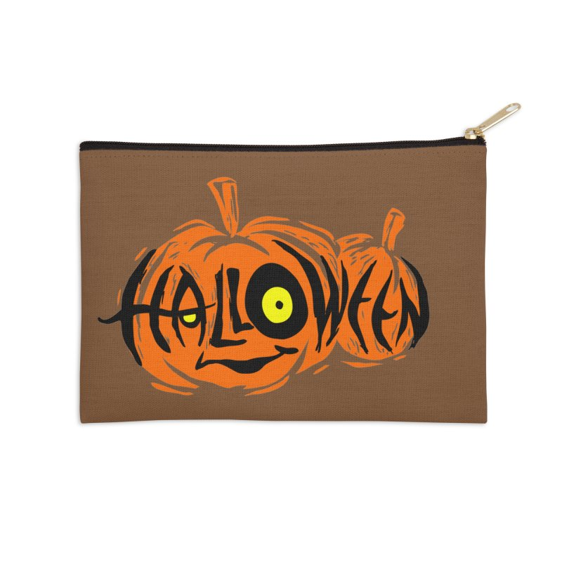 Pumpkin Accessories Zip Pouch by artfanat.shop
