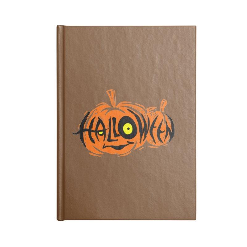 Pumpkin Accessories Lined Journal Notebook by artfanat.shop