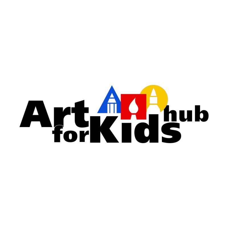 Art For Kids Hub Black Letter Logo Womens T Shirt By