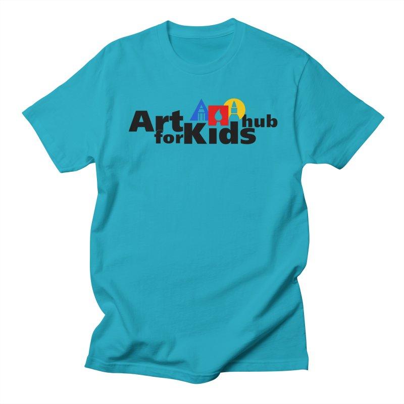 Art For Kids Hub (Black Letter Logo) Men's T-shirt by Art For Kids Hub Store
