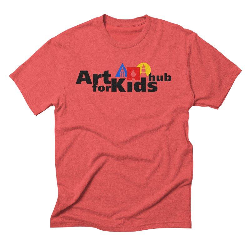 Art For Kids Hub (Black Letter Logo) Men's Triblend T-Shirt by Art For Kids Hub Store