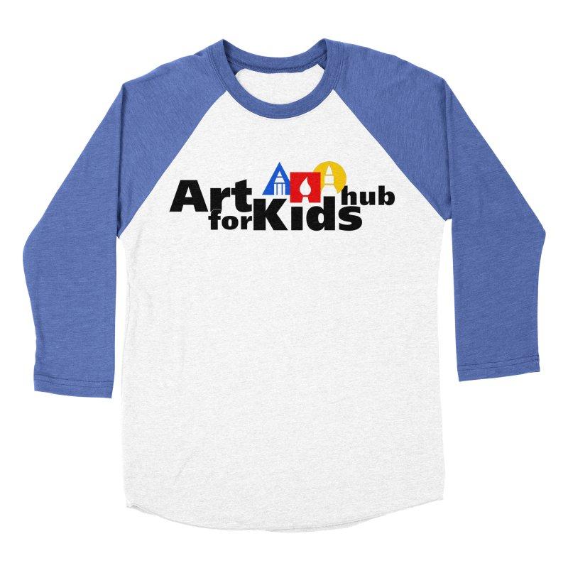Art For Kids Hub (Black Letter Logo) Women's Baseball Triblend T-Shirt by Art For Kids Hub Store