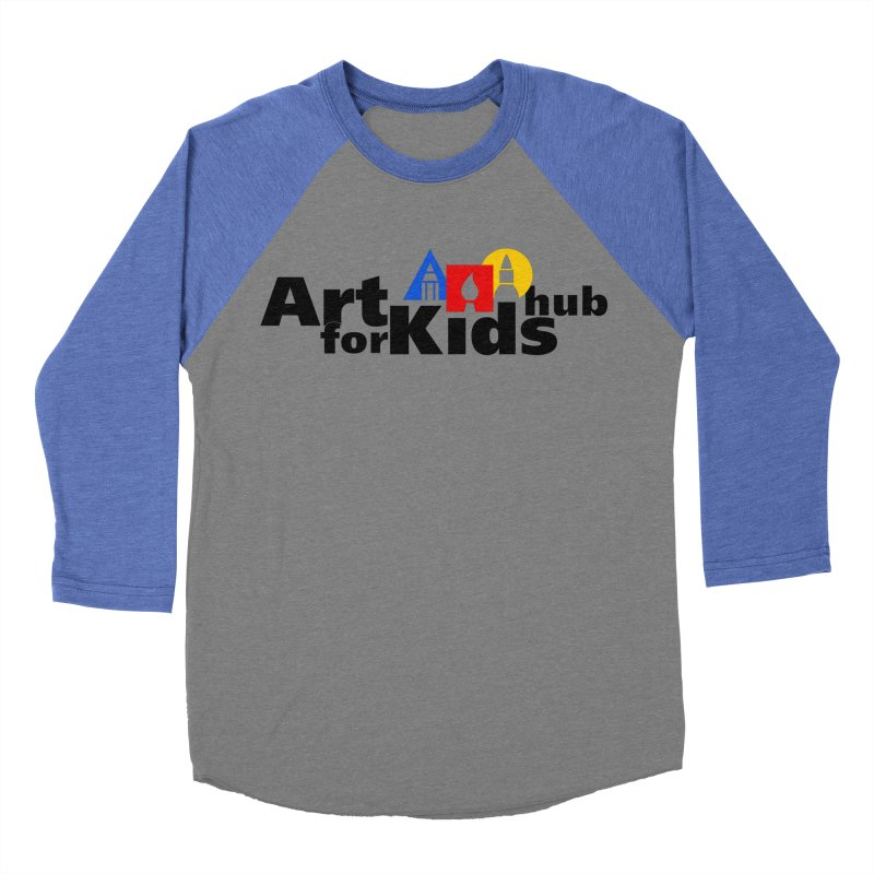 Art For Kids Hub (Black Letter Logo) Women's Baseball Triblend T-Shirt by Art For Kids Hub Store