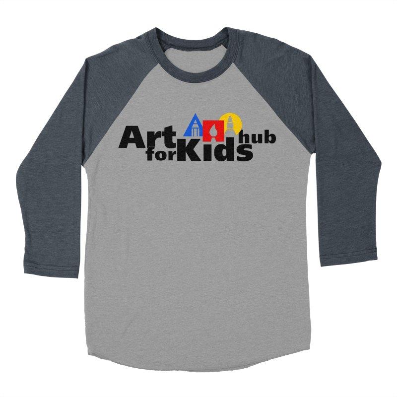 Art For Kids Hub (Black Letter Logo) Men's Baseball Triblend T-Shirt by Art For Kids Hub Store