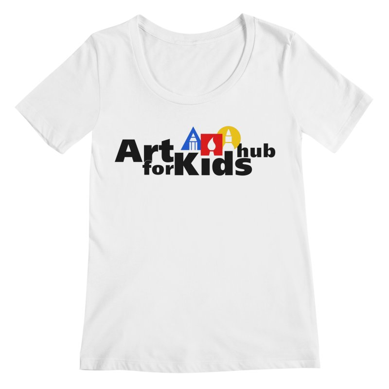 Art For Kids Hub (Black Letter Logo) Women's Scoopneck by Art For Kids Hub Store