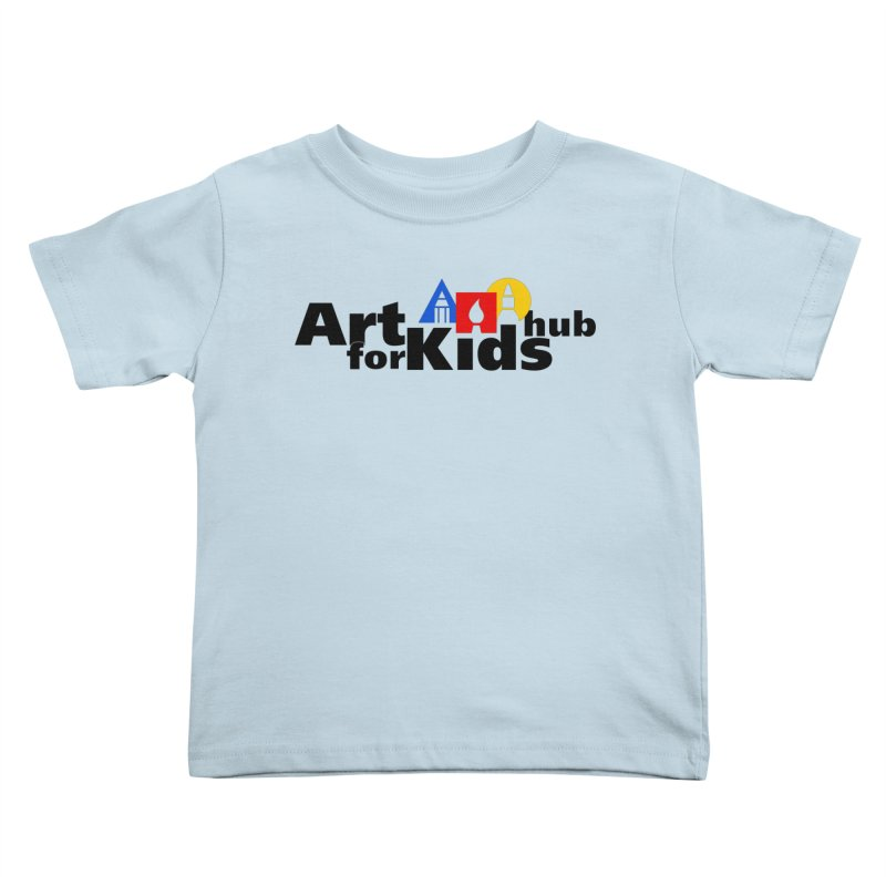 Art For Kids Hub (Black Letter Logo) Kids Toddler T-Shirt by Art For Kids Hub Store