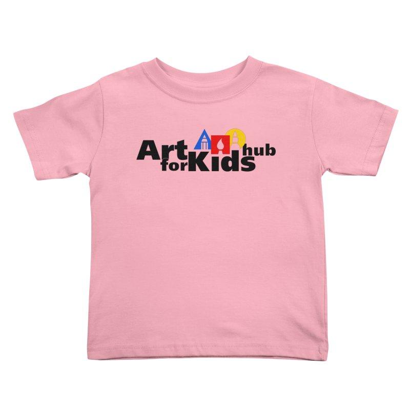 Art For Kids Hub (Black Letter Logo) Kids Toddler T-Shirt by Art For Kids Hub Store