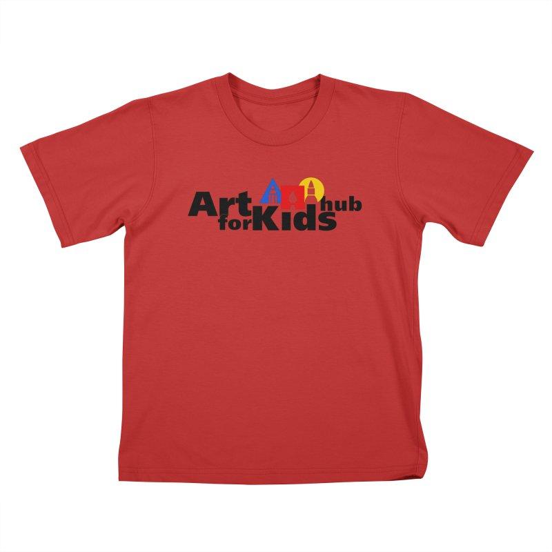 Art For Kids Hub (Black Letter Logo) Kids T-shirt by Art For Kids Hub Store
