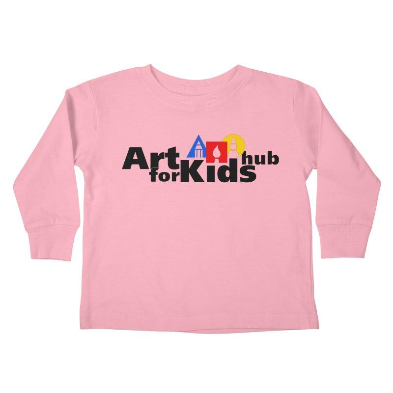Art For Kids Hub (Black Letter Logo) Kids Toddler Longsleeve T-Shirt by Art For Kids Hub Store