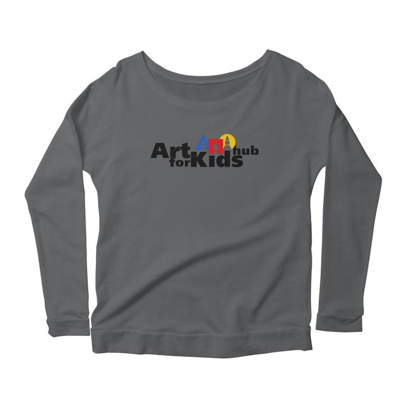 Art For Kids Hub (Black Letter Logo) Women's Longsleeve Scoopneck  by Art For Kids Hub Store