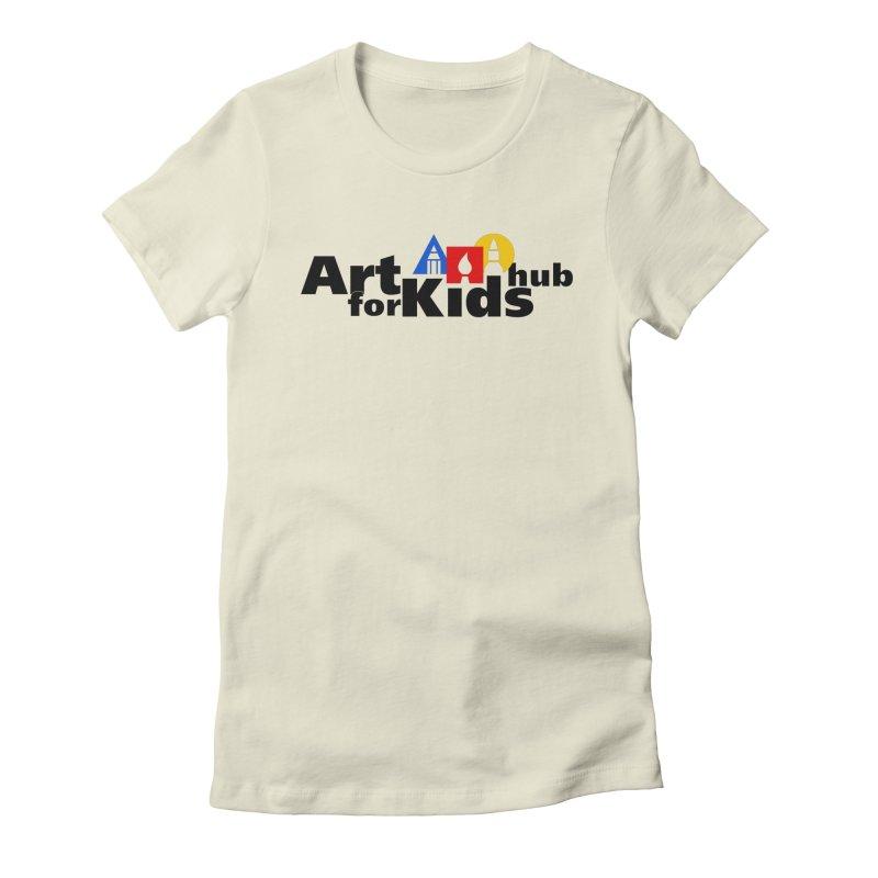 Art For Kids Hub (Black Letter Logo) Women's Fitted T-Shirt by Art For Kids Hub Store