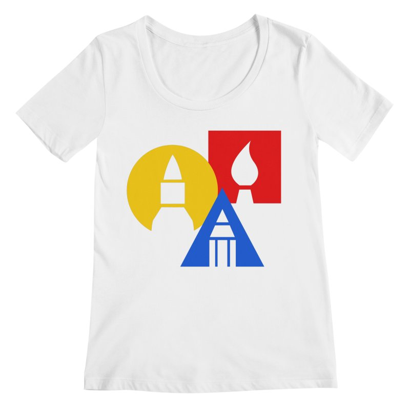 Art For Kids Hub - Icon Women's Scoopneck by Art For Kids Hub Store