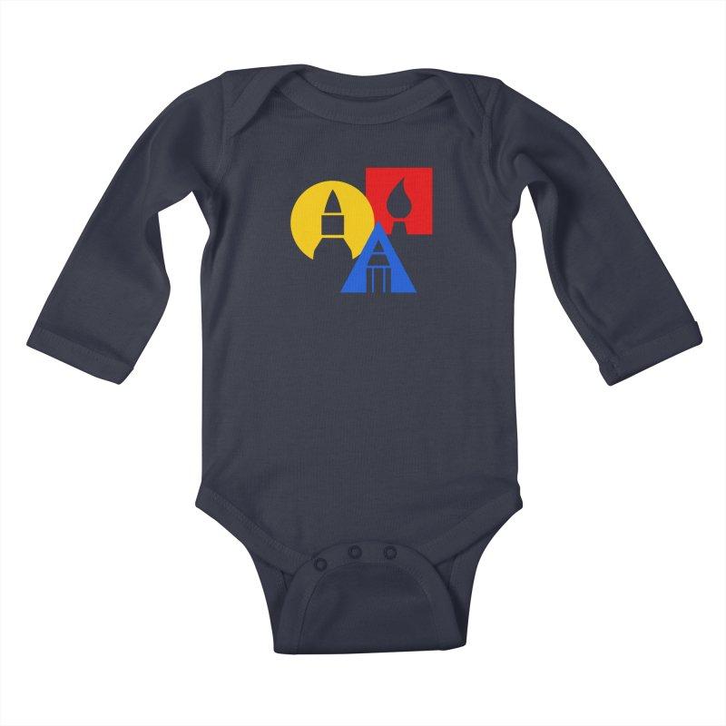 Art For Kids Hub - Icon Kids Baby Longsleeve Bodysuit by Art For Kids Hub Store
