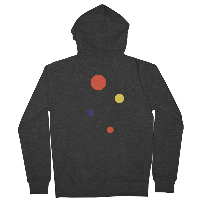 5 Planets Men's French Terry Zip-Up Hoody by SuperOpt Shop