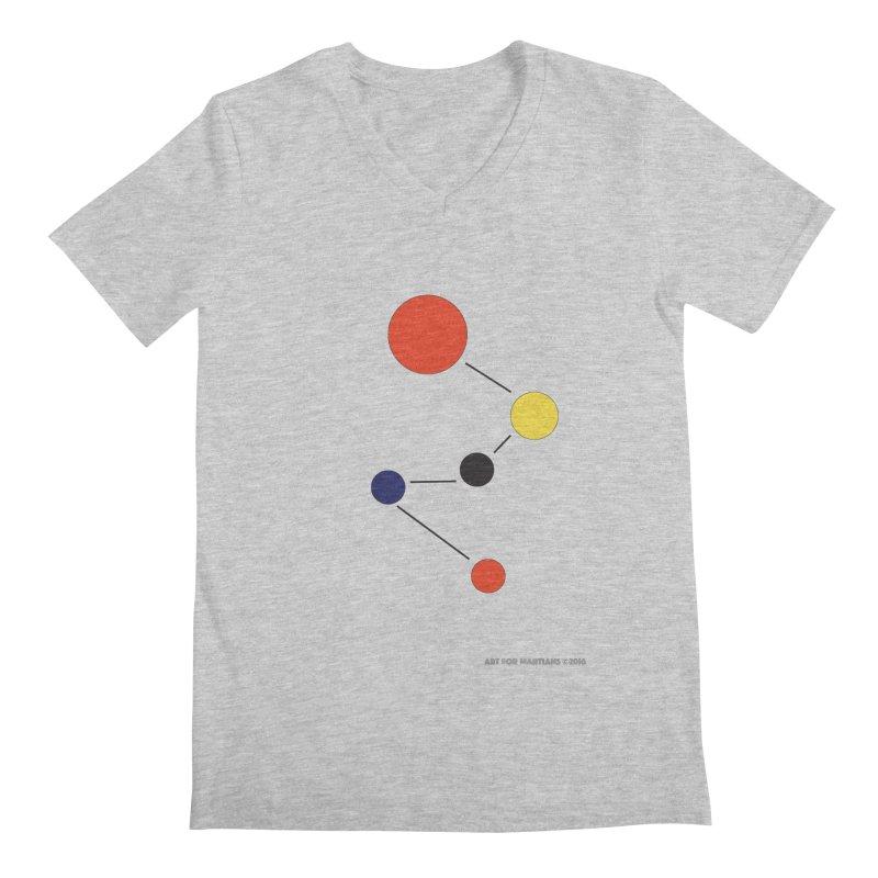 5 Planets Men's Regular V-Neck by SuperOpt Shop