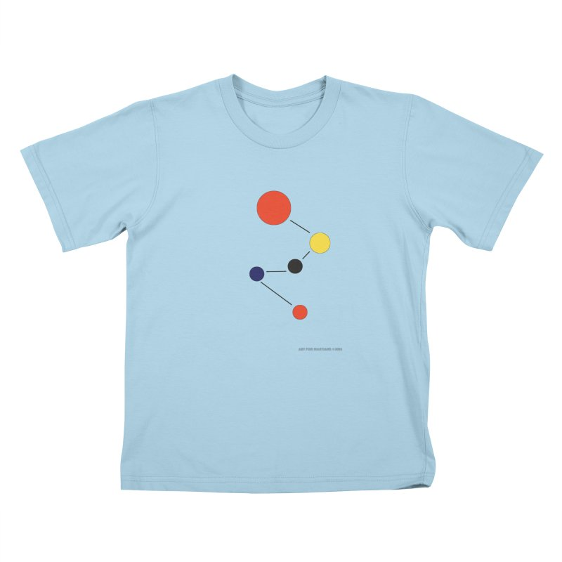 5 Planets Kids T-Shirt by SuperOpt Shop
