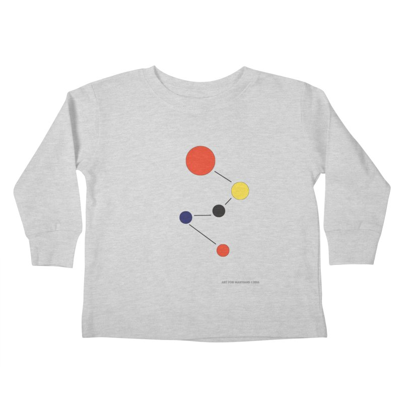5 Planets Kids Toddler Longsleeve T-Shirt by SuperOpt Shop