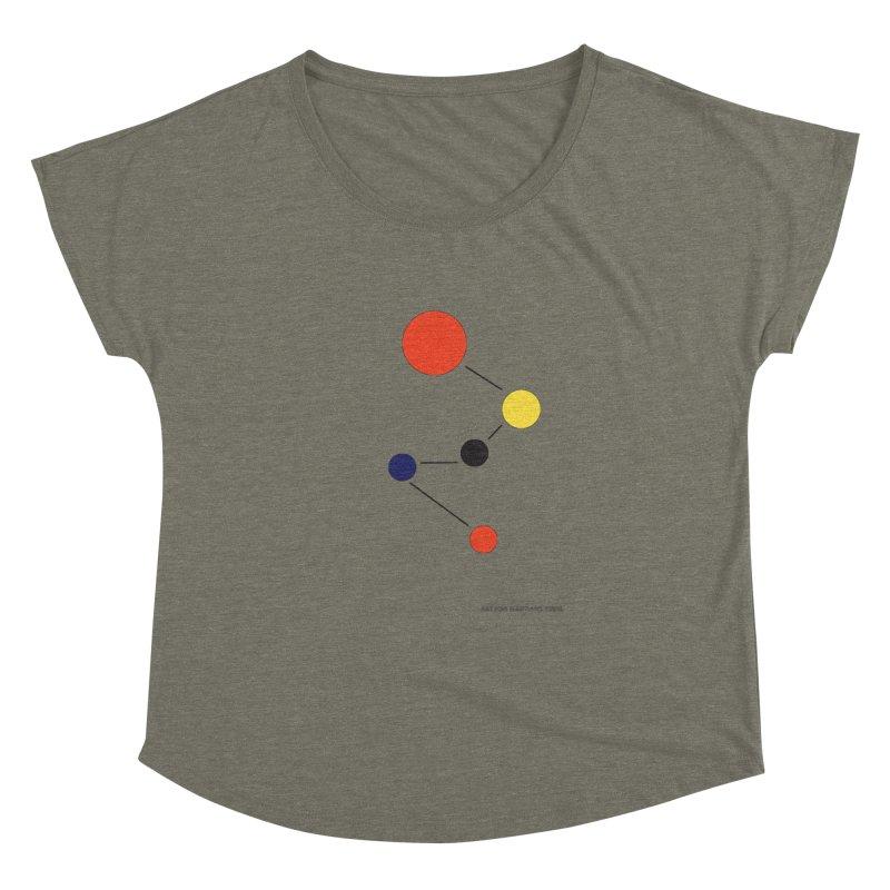5 Planets Women's Dolman Scoop Neck by SuperOpt Shop