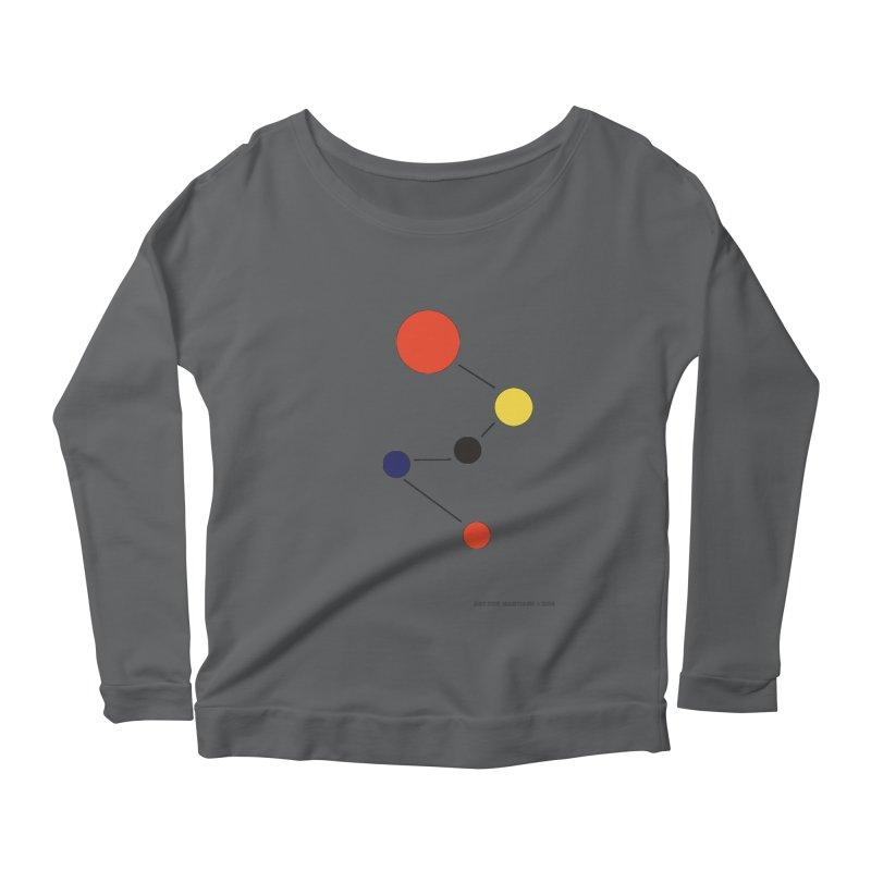 5 Planets Women's Scoop Neck Longsleeve T-Shirt by SuperOpt Shop