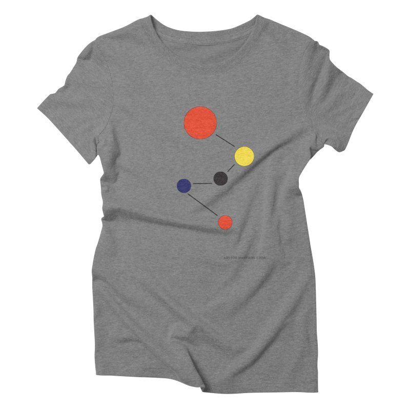 5 Planets Women's Triblend T-Shirt by SuperOpt Shop